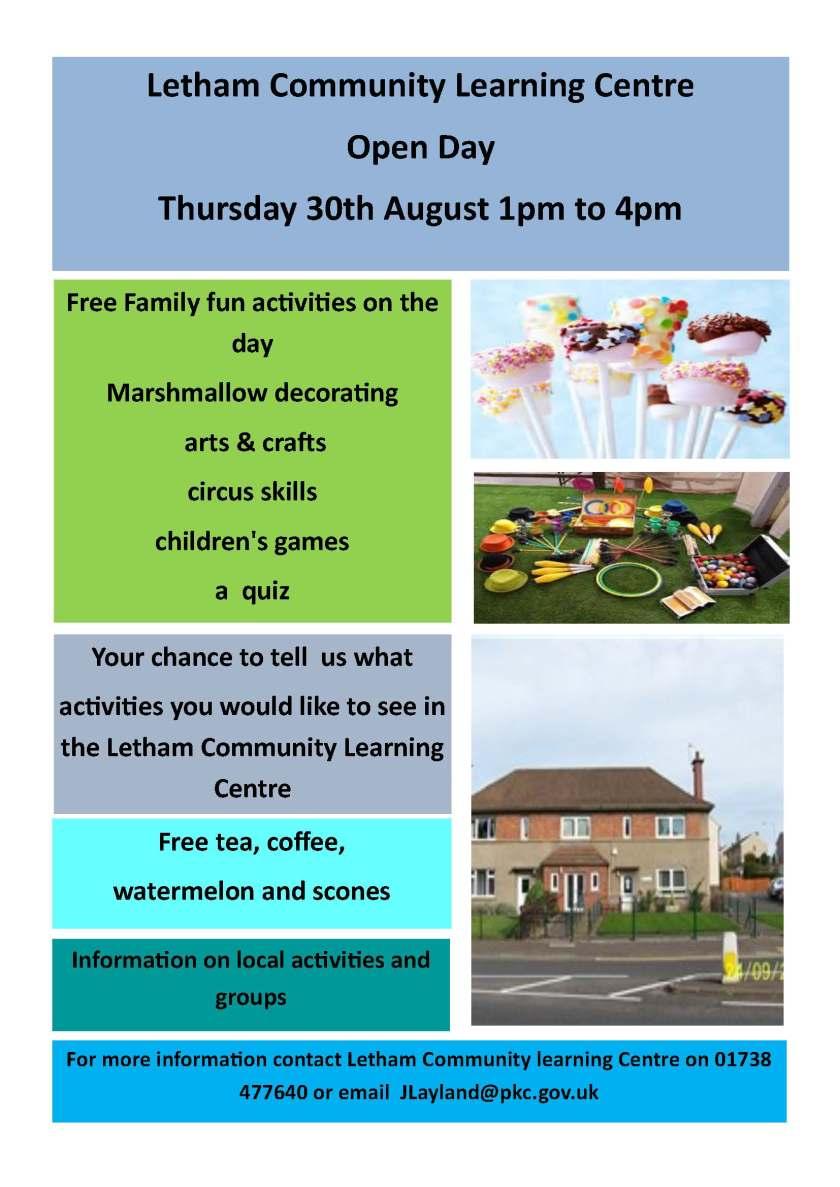 SIDE Letham Community Learning Centre open day poster.jpg