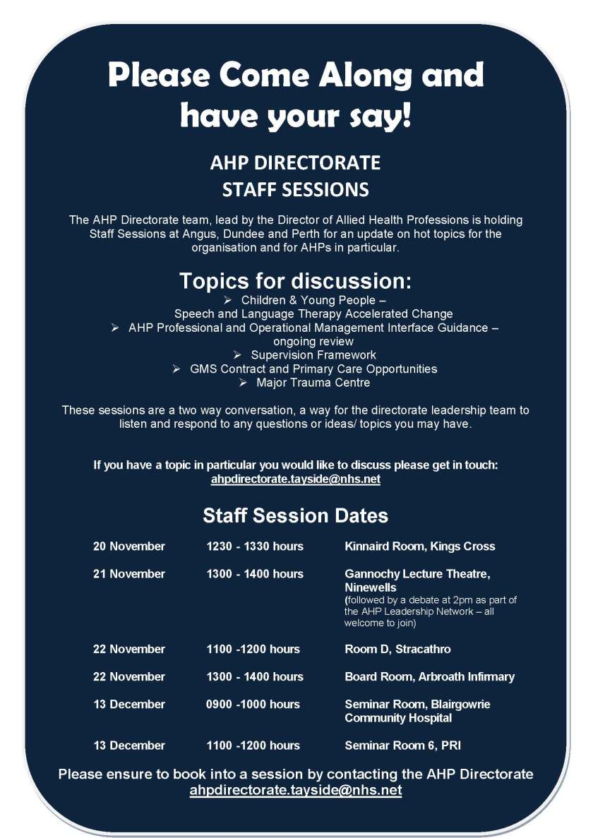 AHP sessions