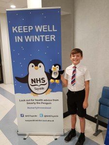 MAIN Smarty the penguin launches NHS Tayside_s winter campaign (2)