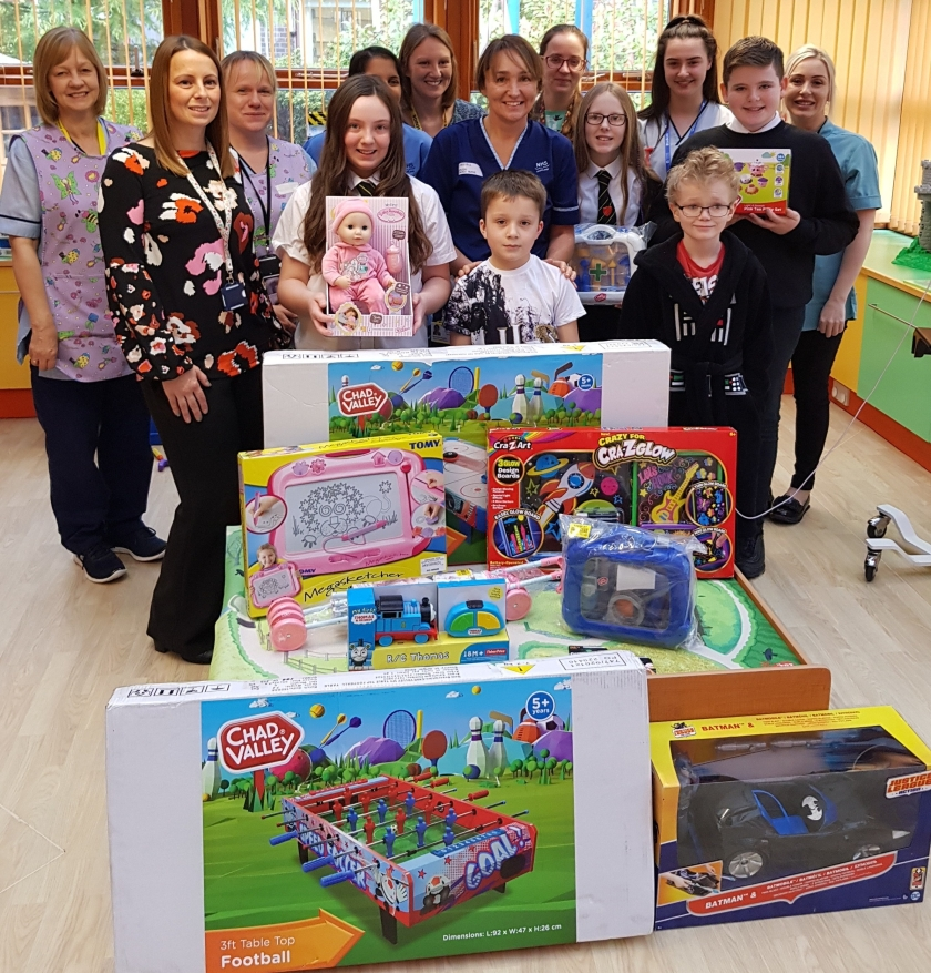 Donations - Pupils make donation to hospital - picture 2