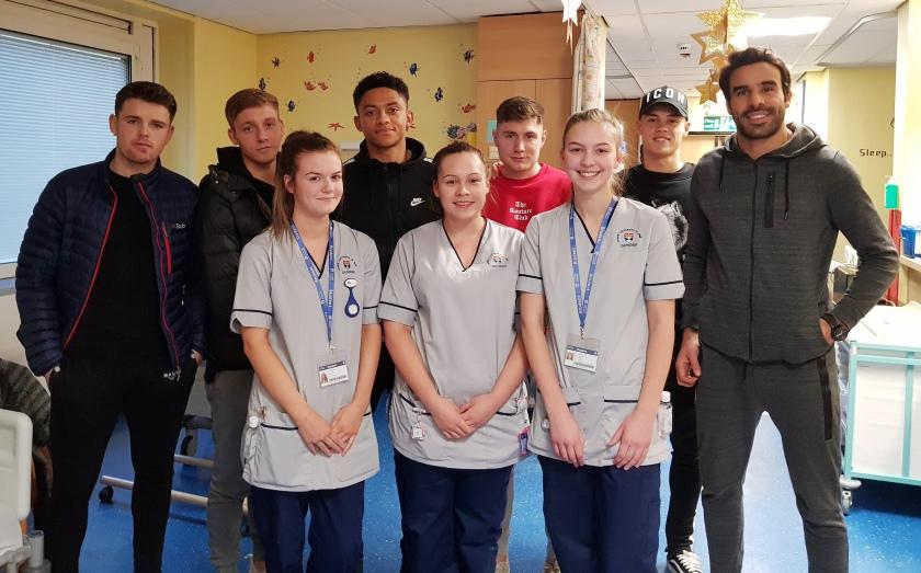 MAIN Dundee FC bring festive cheer to Ninewells - student nurses.jpg