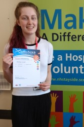 MAIN Saltire Awards presented to young NHS Tayside volunteers - Caitlyn Scott
