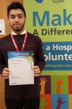 MAIN Saltire Awards presented to young NHS Tayside volunteers - Hassan Meah