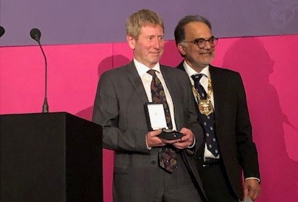 MAIN Tayside anaesthetist presented with College Medal