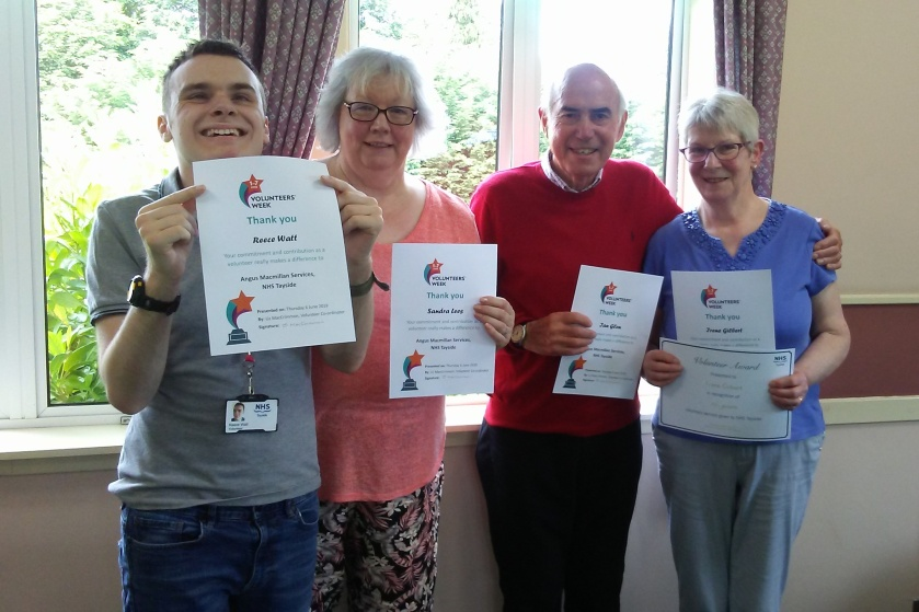 MAIN Celebrating volunteering in Angus - Stracathro Macmillan