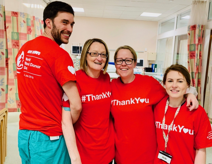 MAIN NHS Tayside supports World Blood Donor Day (2) Intensive Care Unit staff at Ninewells