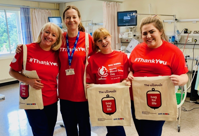 MAIN NHS Tayside supports World Blood Donor Day (3) Intensive Therapy Unit staff at PRI