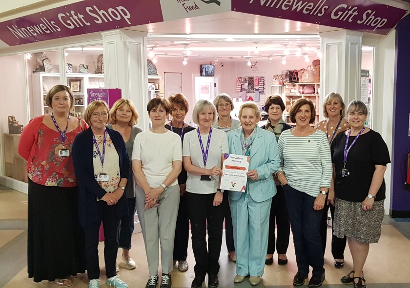 MAIN Volunteers recognised at Ninewells Gift Shop celebration