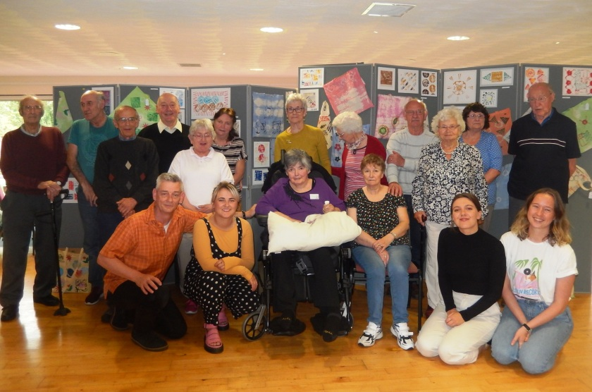 Textiles on display at Montrose Stroke Club