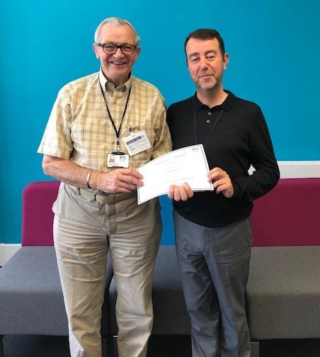 volunteer David McLaren and Gary Leith, Voluntary transport co-ordinator