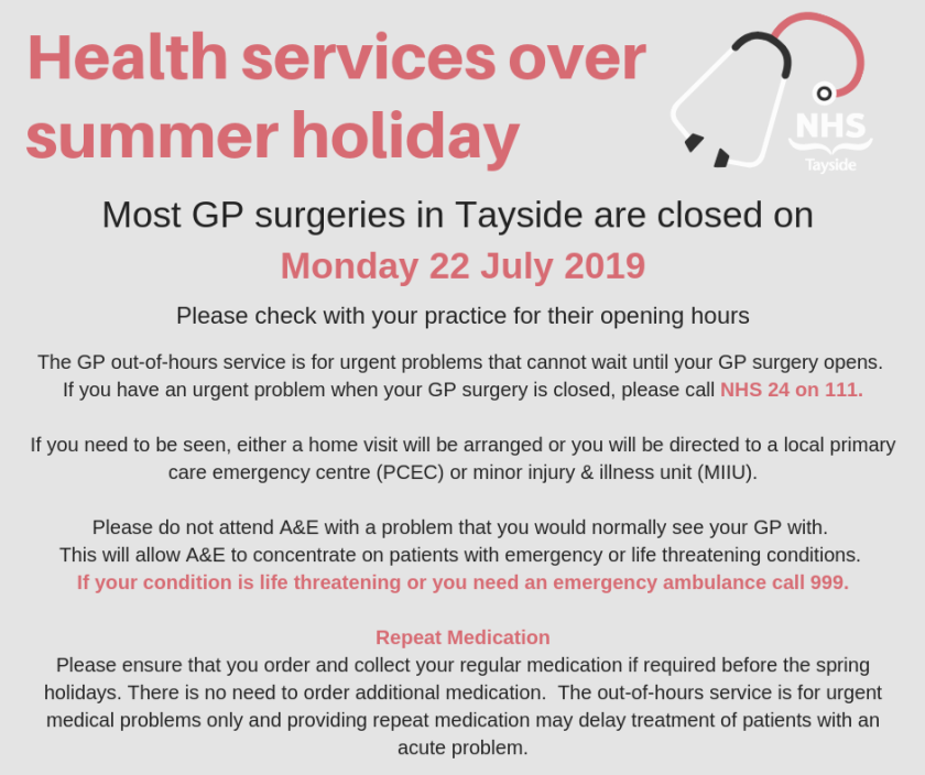 Health services over summer holiday advert 2019.png